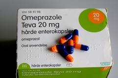 OMEPRAZOLE TEVA 20 MG. Copenhagen /Denmark - 14.jULY  2017.Omeprazole Teva 20 mg for stomach acid .       Photo.Francis Joseph  Dean/Deanpictures Stock Photos