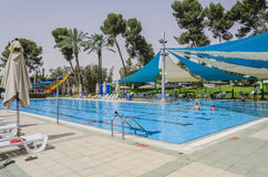 Omer Country Club, ISRAËL - Juni 27, 2015 in Israël stock foto