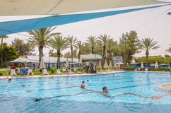 Free Omer, ISRAEL -June 27,People Swim In The Outdoor Pool- Omer, Negev, June 27, 2015 In Israel Royalty Free Stock Photo - 56863505