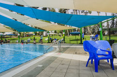 Omer, ISRAEL - 27. Juni, Swimmingpool - Omer, Negev, am 27. Juni 2015 in Israel Stockbild