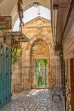 Omer mosque entrance in Jerusalem Royalty Free Stock Photography