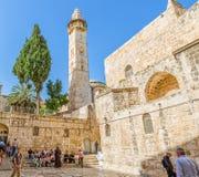 Omer mosque minaret in Jerusalem Stock Photos