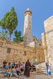 Omer mosque minaret in Jerusalem Royalty Free Stock Photos
