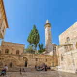 Omer mosque minaret in Jerusalem Royalty Free Stock Photo