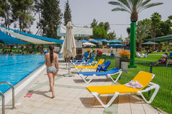 Omer, Negev, ISRAEL -June 27,Opening of the summer season in the children's swimming pool - 2015 in Israel Stock Images