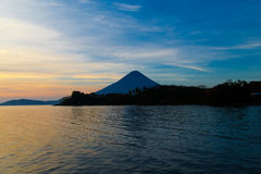 Ometepe vulcano Concepcion view Stock Photography