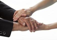omfamna händer Royaltyfri Foto