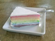 Omfloers Cake Royalty-vrije Stock Afbeelding