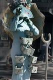 omformning av mannen in i monumentet eller populärt filmtecken Royaltyfria Foton