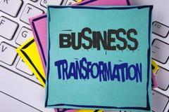 Omformning för affär för handskrifttexthandstil Förbättrar menande danandeändringar för begrepp i ledning av företaget skriftligt Arkivfoto