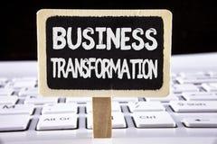 Omformning för affär för ordhandstiltext Affärsidé för framställning av ändringar i ledning av företagsförbättringen skriftliga p Arkivbilder