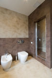 Сomfortable bathroom. In modern hotel Royalty Free Stock Image