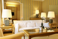 Omfortable classic living room. Interior luxury apartment, comfortable classic living room Stock Image