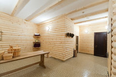 сomfortable sauna. In an apartment Stock Photography