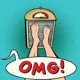 OMG αιφνιδιαστική διατροφή ελεύθερη απεικόνιση δικαιώματος