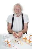 OMG πάρα πολλά χάπια Στοκ φωτογραφία με δικαίωμα ελεύθερης χρήσης