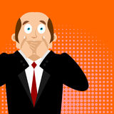 OMG boss Facepalm Pop art . Oh my god businessman is frustrated. royalty free illustration
