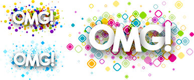 Omg colour backgrounds. Stock Images