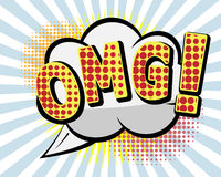 OMG Comic Speach Bubble,Pop art Vector Background Stock Image