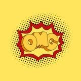 OMG en arte pop Burbuja cómica del discurso oh mi dios Ilustración del vector Imagen de archivo libre de regalías