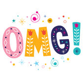OMG! Expression - Oh My God Decorative Lettering Text Royalty Free Stock Photography
