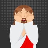 OMG Jesus is Facepalm. Oh my god Christ is disappointed. Disappo Royalty Free Stock Photography