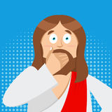 OMG Jesus is Facepalm Pop art . Oh my god Christ is disappointed Royalty Free Stock Photo