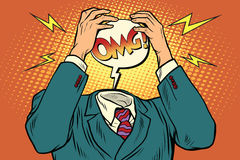 OMG lo sforzo o l'emicrania illustrazione di stock