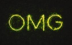 Omg oh la mia insegna al neon del dio immagini stock