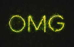 Omg oh my god neon sign stock images