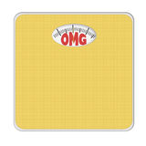 OMG overweight bathroom scale, scales. Isolated on white. Stock Photos