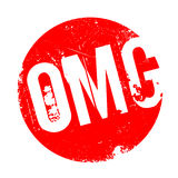 Omg rubber stamp. Grunge design with dust scratches. Effects can be easily removed for a clean, crisp look. Color is easily changed Royalty Free Stock Photo