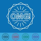 OMG! Sticker Or Button - Vector Illustration - Different Colors. OMG! Sticker Or Button - Vector Illustration - Isolated On White Background Stock Image
