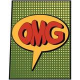 Omg vert de bande dessinée Image stock