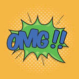 OMG! Wording Sound Effect. Oh My God! Wording sound effect for comic speech bubble Stock Photos