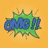 OMG! Wording Sound Effect Stock Photos