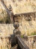 Omgeende gravar för förfallet staket arkivfoto