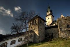omgeende townväggar för slott Royaltyfri Bild