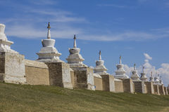 Omgeende vägg för Erdene Zuu kloster Royaltyfria Foton