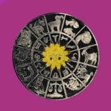 Omgekeerd horoscoopwiel Royalty-vrije Stock Foto