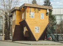 Omgekeerd huis Stock Afbeeldingen