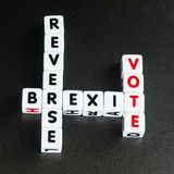 Omgekeerde Brexit-stem Stock Fotografie