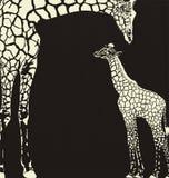 Omgekeerde giraf dierlijke camouflage Stock Afbeeldingen