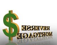 Omgekeerde Grafische Hypotheek Stock Fotografie