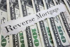 Omgekeerde hypotheek Stock Afbeelding