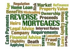 Omgekeerde Hypotheken Royalty-vrije Stock Afbeeldingen