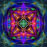 Omgekeerde Mandala Digital Nu Royalty-vrije Stock Foto's