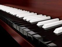 Omgekeerde piano royalty-vrije stock fotografie