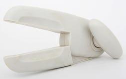 Omgekeerde plastic tinopener met metaalbladen Stock Foto's