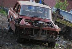 Omgezette auto Stock Afbeeldingen